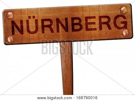 Nurnberg road sign, 3D rendering