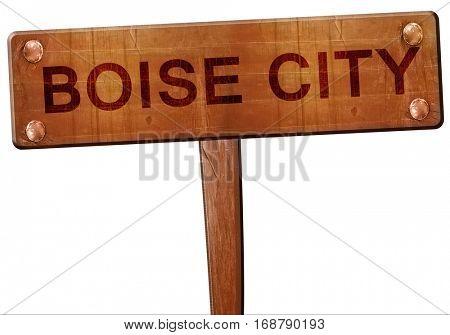 boise city road sign, 3D rendering