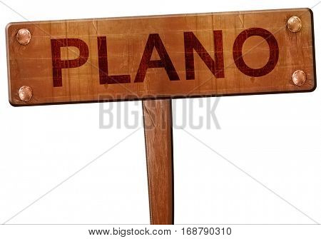 plano road sign, 3D rendering