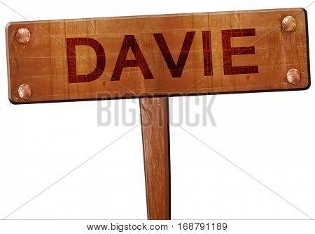 davie road sign, 3D rendering
