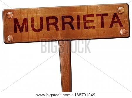 murrieta road sign, 3D rendering