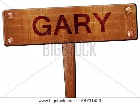 gary road sign, 3D rendering