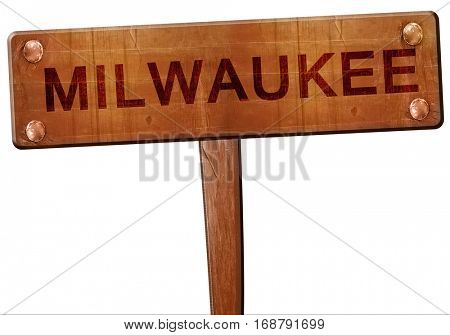 milwaukee road sign, 3D rendering
