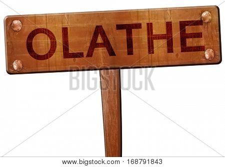 olathe road sign, 3D rendering