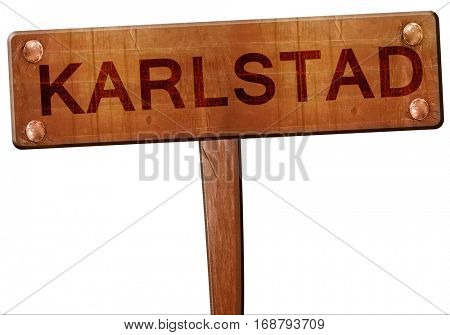 karlstad road sign, 3D rendering