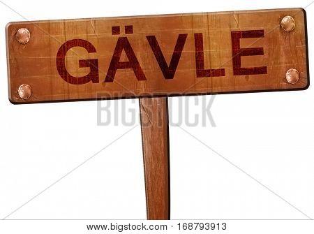 Gavle road sign, 3D rendering