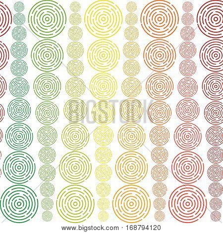 Circles Sized Seamless Pattern