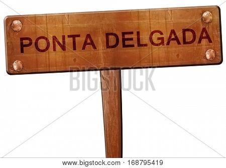 Ponta delgada road sign, 3D rendering
