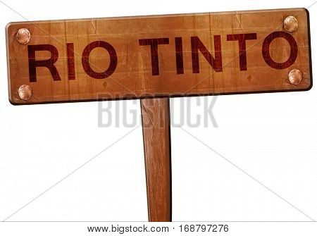 Rio tinto road sign, 3D rendering