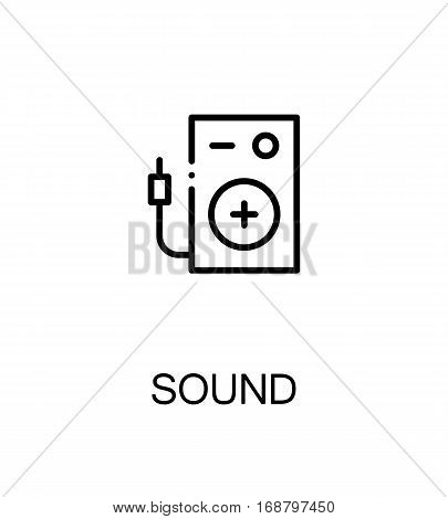 Sound icon. Single high quality outline symbol for web design or mobile app. Thin line sign for design logo. Black outline pictogram on white background