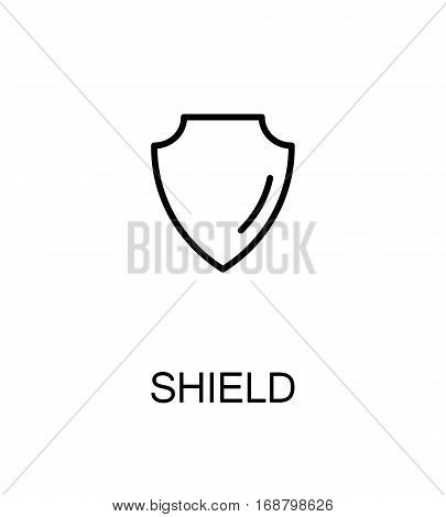 Shield icon. Single high quality outline symbol for web design or mobile app. Thin line sign for design logo. Black outline pictogram on white background