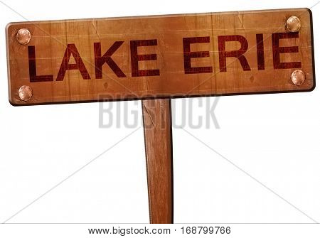 Lake erie road sign, 3D rendering