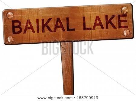 Baikal lake road sign, 3D rendering