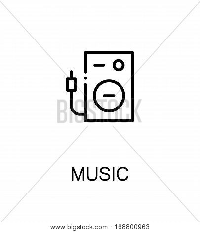 Music icon. Single high quality outline symbol for web design or mobile app. Thin line sign for design logo. Black outline pictogram on white background