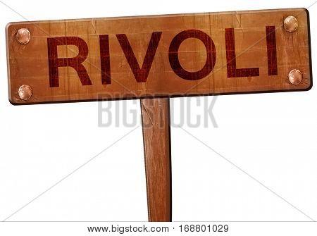 Rivoli road sign, 3D rendering