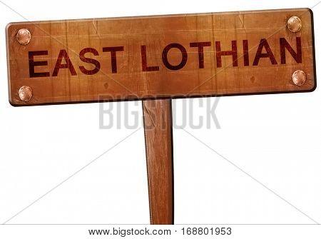 East lothian road sign, 3D rendering