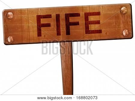 Fife road sign, 3D rendering