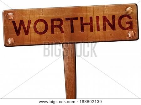 Worthing road sign, 3D rendering
