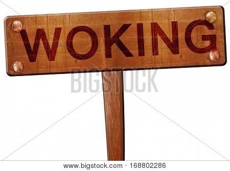 Woking road sign, 3D rendering