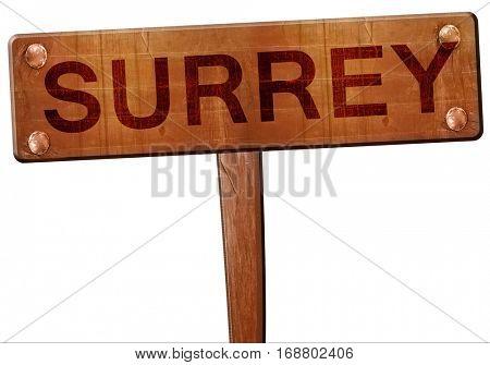 Surrey road sign, 3D rendering