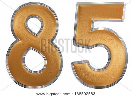 Numeral 85, Eighty Five, Isolated On White Background, 3D Render