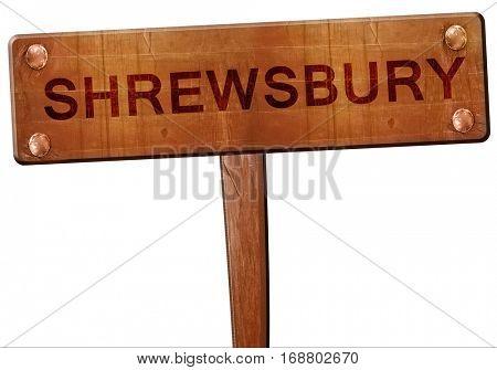 Shrewsbury road sign, 3D rendering