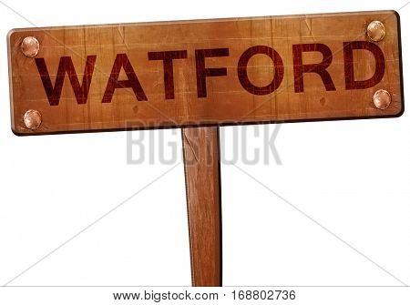 Watford road sign, 3D rendering