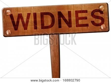 Widnes road sign, 3D rendering