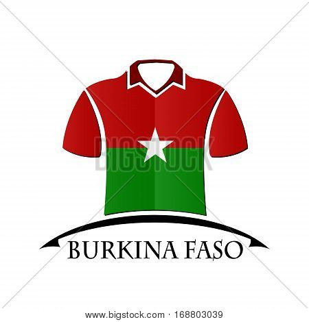 shirts icon made from the flag of Burkina Faso