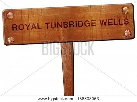 Royal tunbridge wells road sign, 3D rendering
