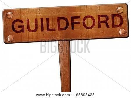 Guildford road sign, 3D rendering