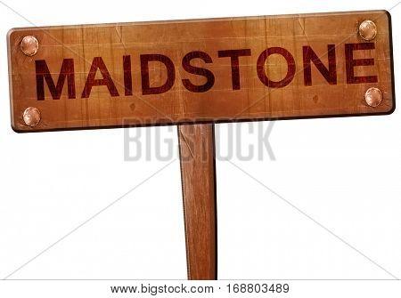 Maidstone road sign, 3D rendering