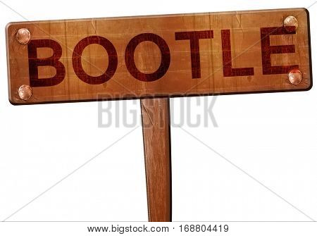 Bootle road sign, 3D rendering