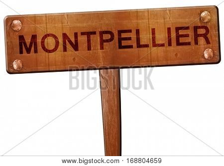 montpellier road sign, 3D rendering