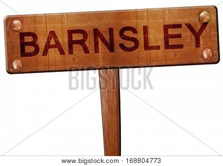 Barnsley road sign, 3D rendering