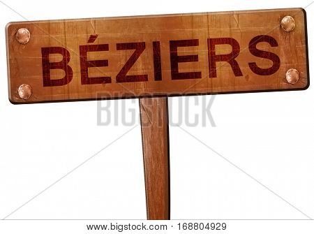 beziers road sign, 3D rendering