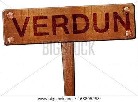 verdun road sign, 3D rendering