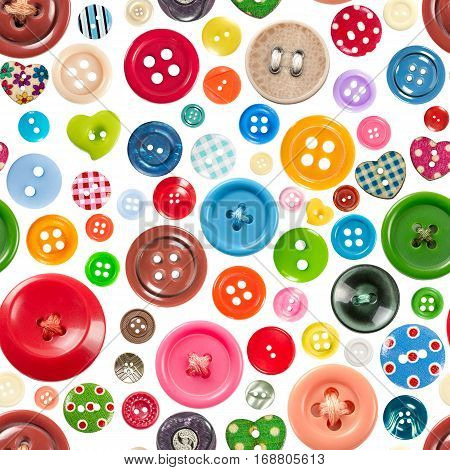Seamless Pattern With Colorful Buttons