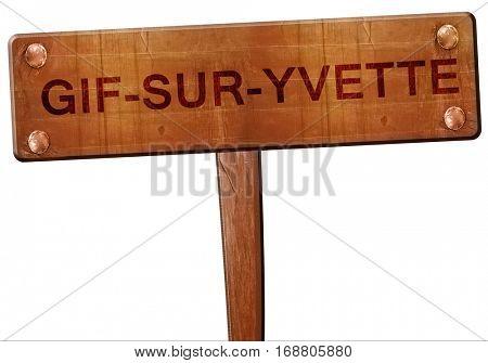 gif-sur-yvette road sign, 3D rendering