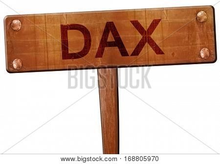 dax road sign, 3D rendering