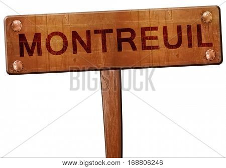 montreuil road sign, 3D rendering