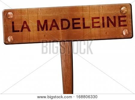 la madeleine road sign, 3D rendering