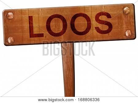 loos road sign, 3D rendering