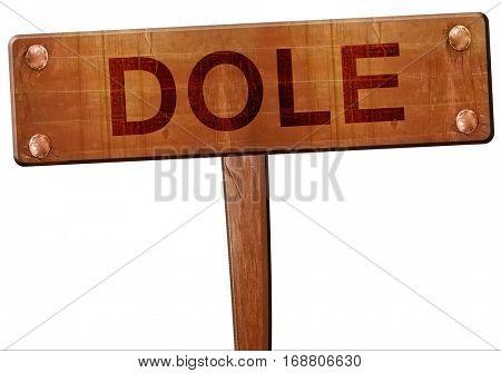 dole road sign, 3D rendering
