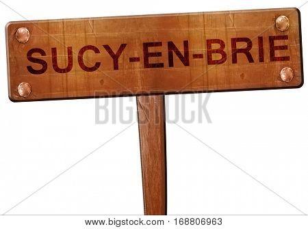 sucy-en-brie road sign, 3D rendering