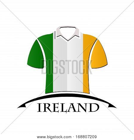 shirts icon made from the flag of Ireland