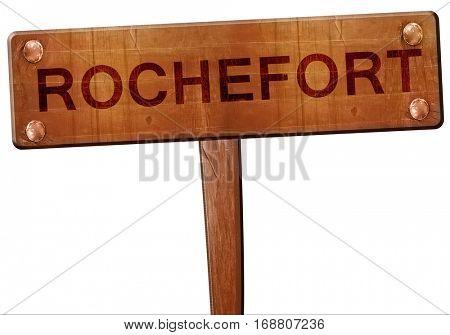 rochefort road sign, 3D rendering