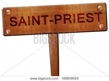 saint-priest road sign, 3D rendering
