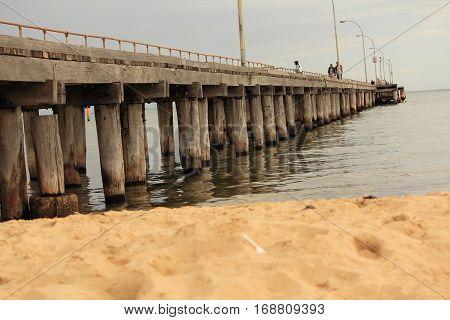A pier at Altona beach, Melbourne, Australia
