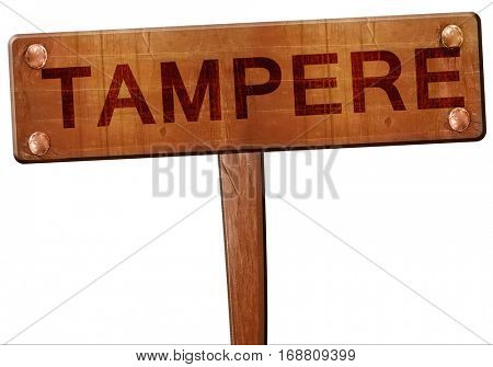 Tampere road sign, 3D rendering